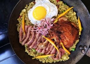 pato con arroz