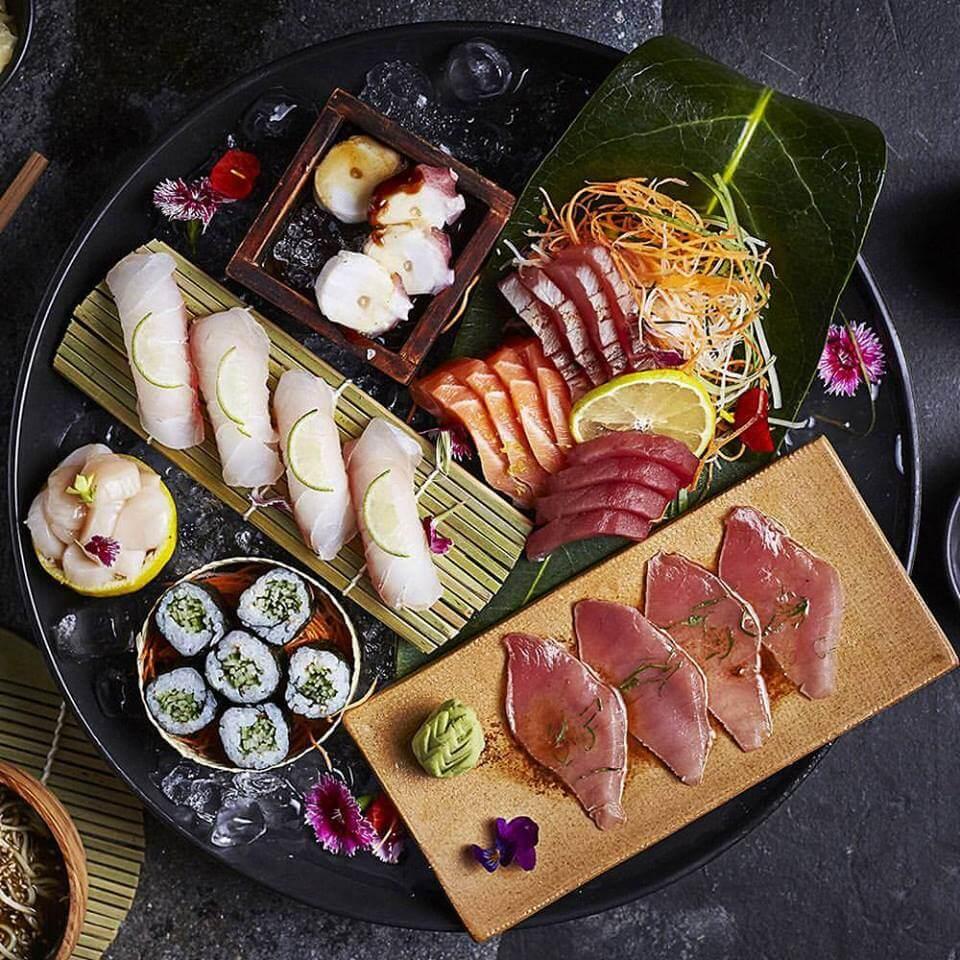 Omakase Nikkei con más de 6 variedades de #sushi  osaka