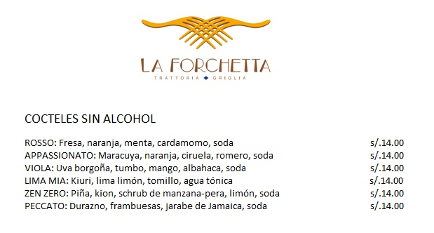 la forcheta cocteles sin alcohol