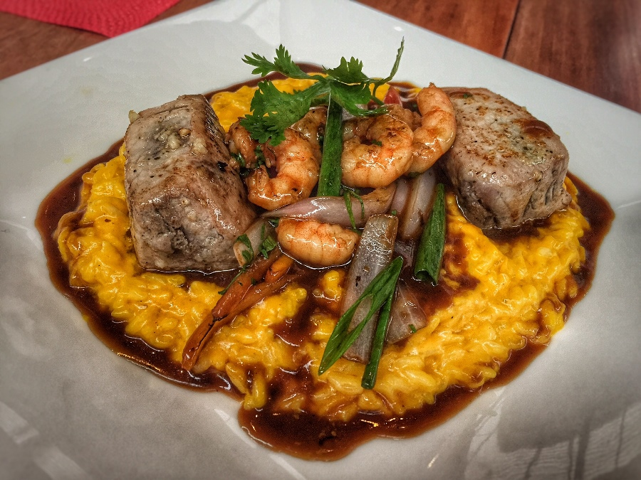 filete de atun con risotto